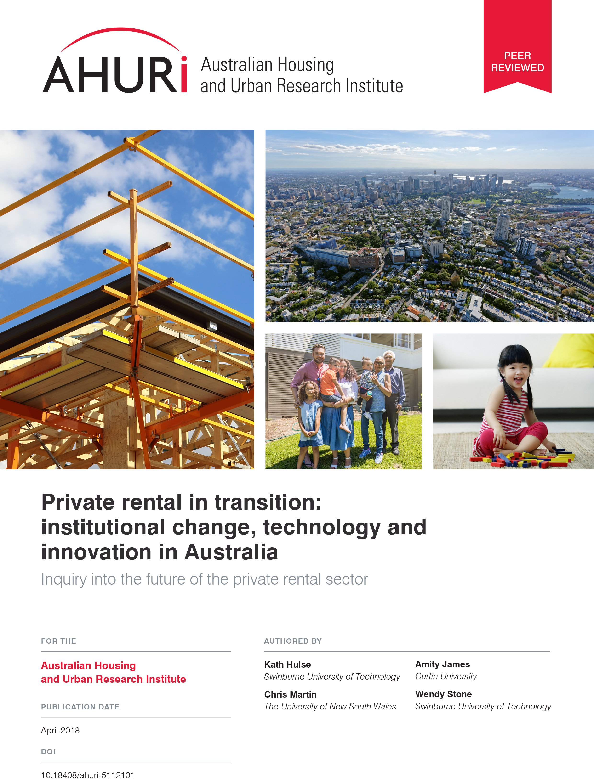 Final Report - The institutional dynamics of the Australian private rental sector: prospects and opportunities