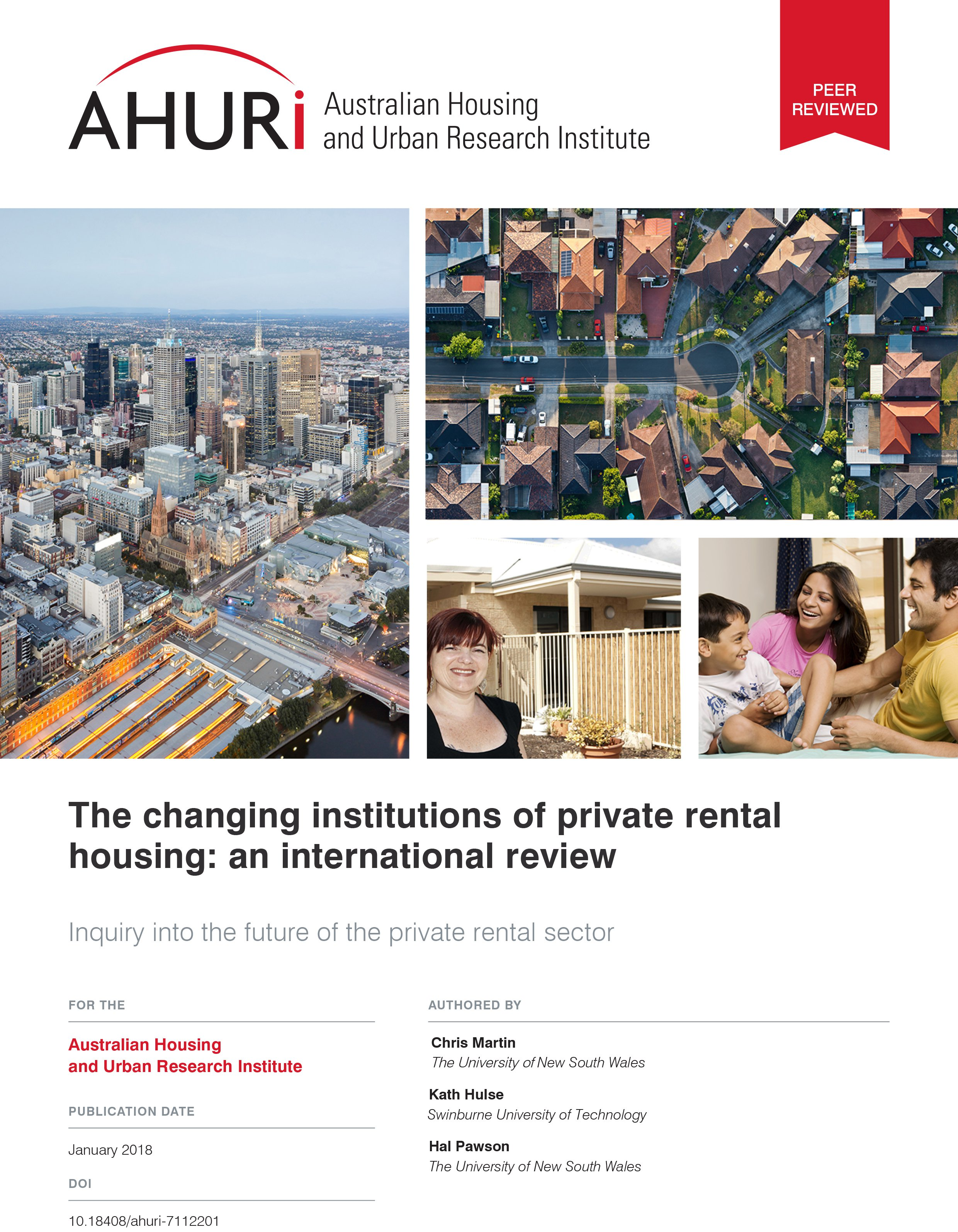 Final Report - The changing institutions of private rental housing: an international review