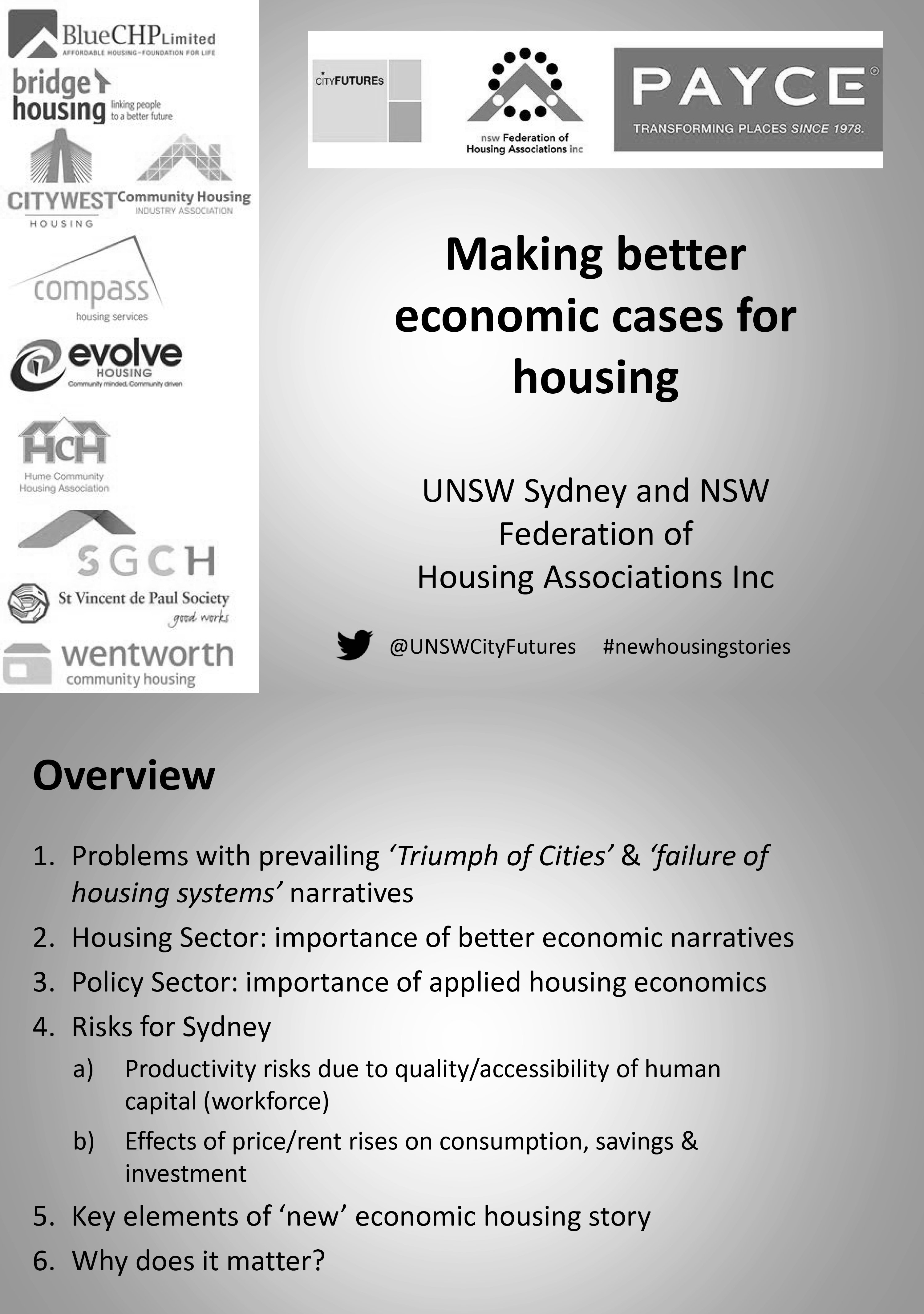 Presentation Slides - Making Better Economic Cases For Housing Policies