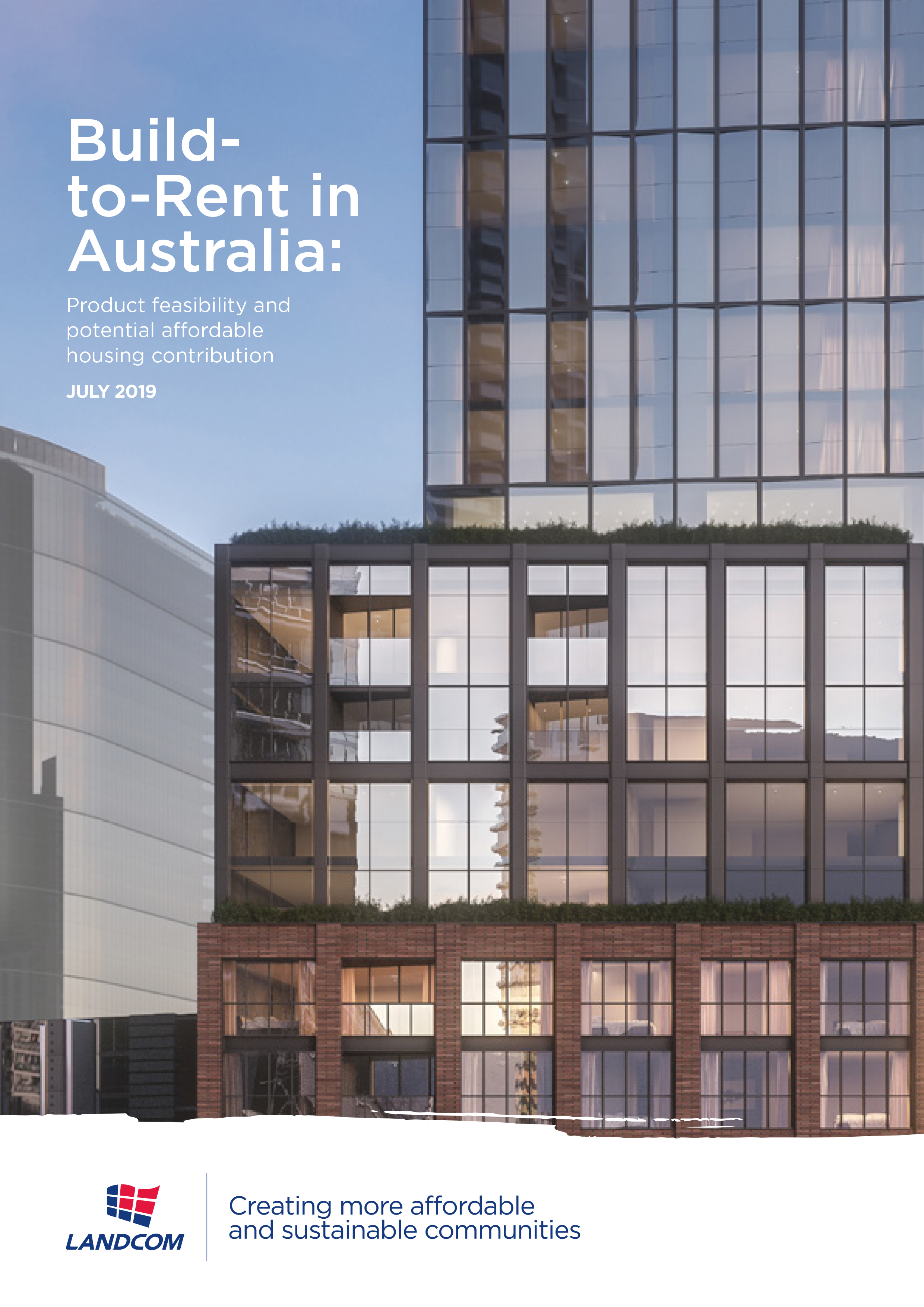 How can an Australian 'build to rent' product contribute to urban