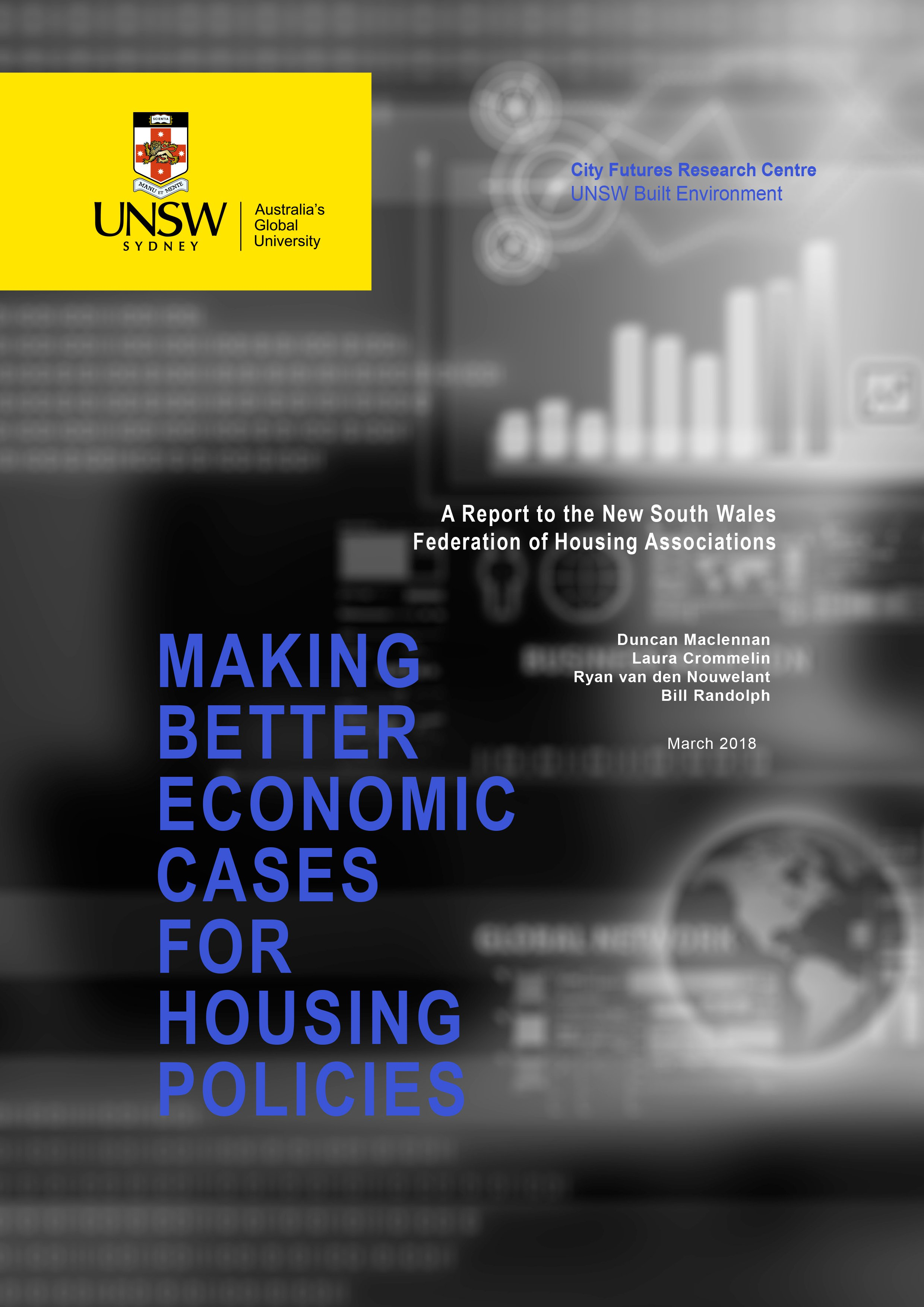 Report Cover - Making Better Economic Cases For Housing Policies