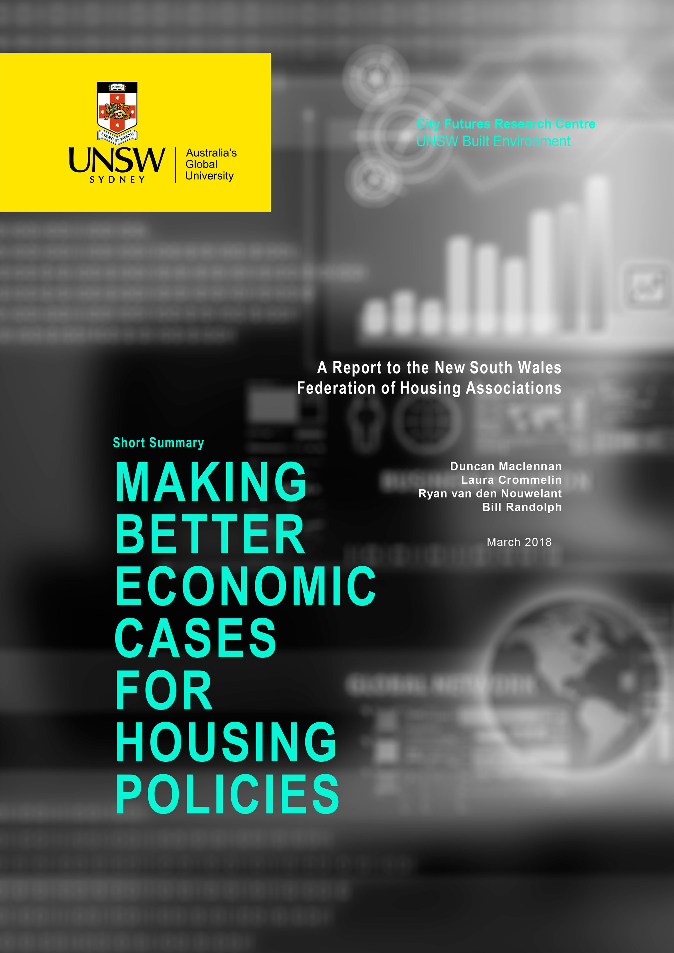 Summary Cover - Making Better Economic Cases For Housing Policies
