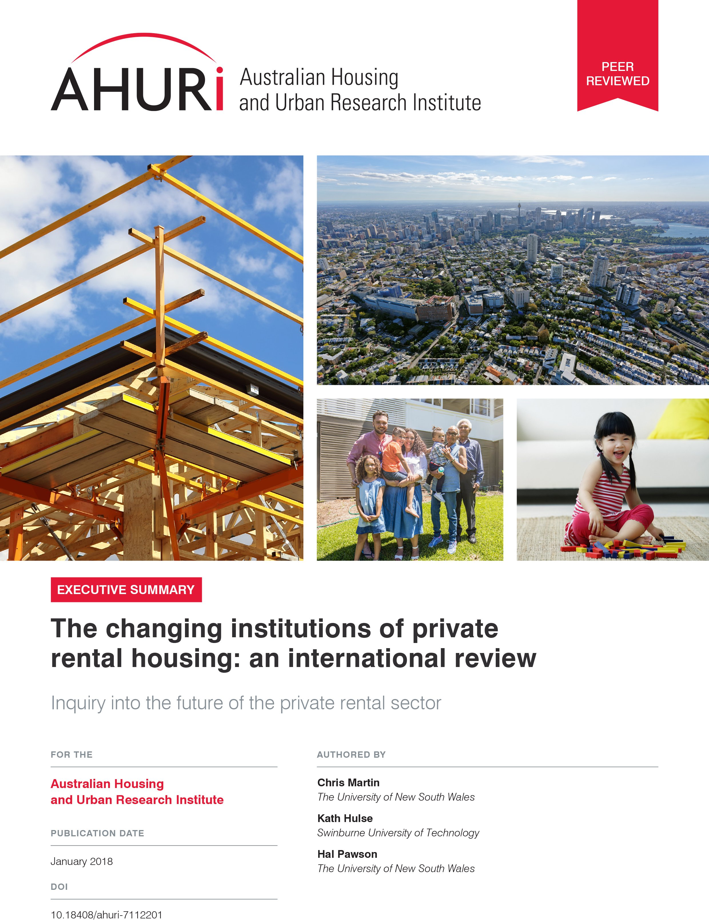 Executive Summary - The changing institutions of private rental housing: an international review